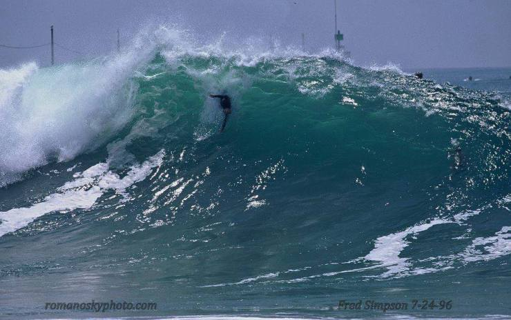 Fred Simpson Bodysurfing Wedge by Ron Romanosky