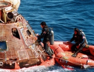 UDT at the Apollo 15 splashdown.