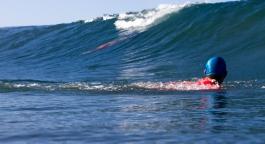 Tim Barnes Eyeing an Underwater Takeoff