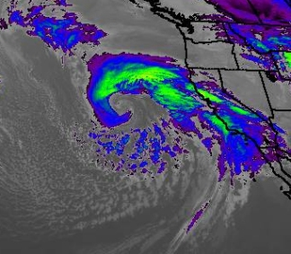 Low Pressure near the California Coast