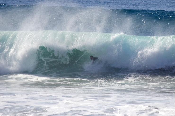 Bodysurfing a big Closeout