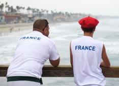 International flair on the Oceanside Pier.