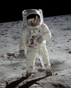 Buzz Aldrin in the Sea of Tranquility. Photo taken by Neil Armstrong. Credit: NASA