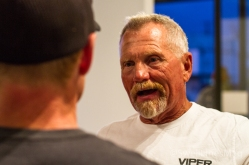 Dedicated Wedge Veteran Dare, talking with his equally dedicated son Grady