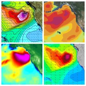NPAC early December 2015: StormSurf, SwellWatch, Surfline, MagicSeaweed.
