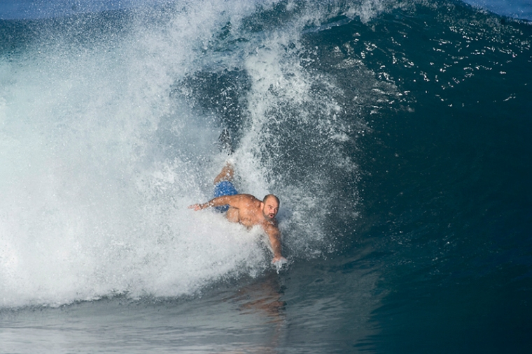 Steve Kapela at Pipeline