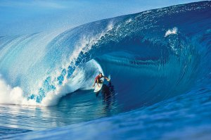 Cory Lopez- Teahupoo 1999. I had this on my wall soon after riding my first wave. Photo: Tom Servais
