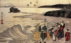 """Women on the Beach""- Hokusai 1797"