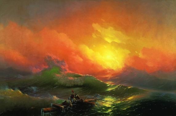 """Ninth Wave""- Ivan Konstantinovich Aivazovsky 1850"