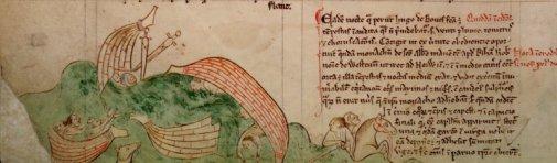 """Shipwreck of Hugh de Boves""- Matthew Paris 13th Century"