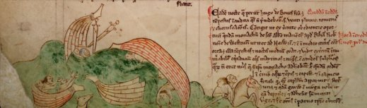 """Shipwreck of Hugh de Boves""- Matthew Paris 13th Century"