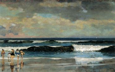 """On the Beach""- Winslow Homer 1869"