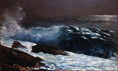 """Sunlight on the Coast""- Winslow Homer 1890"