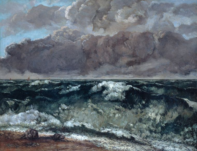 """La Vague""- Gustave Courbet 1870"