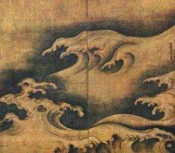 """Rough Waves""- Ogata Korin 1704"