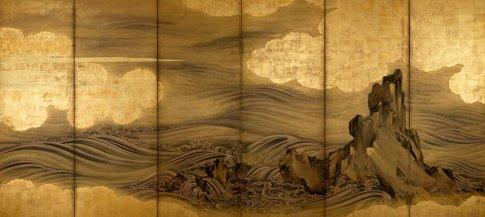 """Waves and Rock""- Hasegawa Togaku 17th Century"
