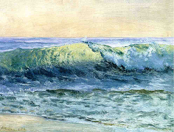 The Wave- Albert Bierstadt 1880