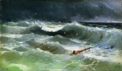 """Storm""- Ivan Aivazovsky 1886"