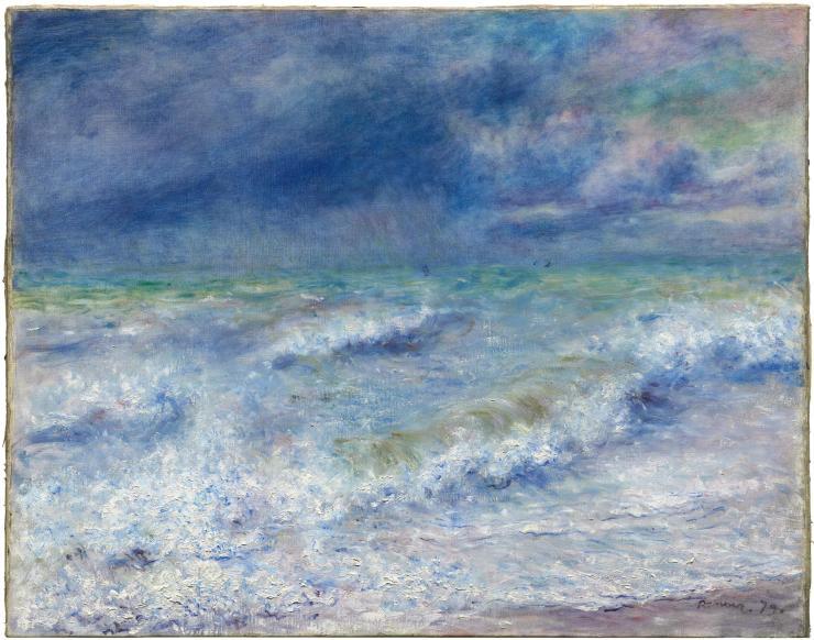 """Seascape""- Pierre-Auguste Renoir 1879"