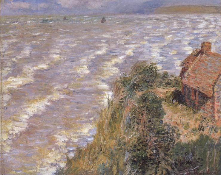 """""""Pourville, Flood Tide""""- Claude Monet 1882"""