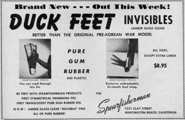 Duck Feet Invisibles Advertisement