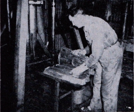 Arthur Brown working with the Giant Duck Feet mold in Huntington Beach California. UDT History