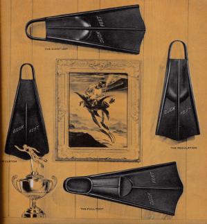Duck Feet Fin Advertisement with John Steel artwork