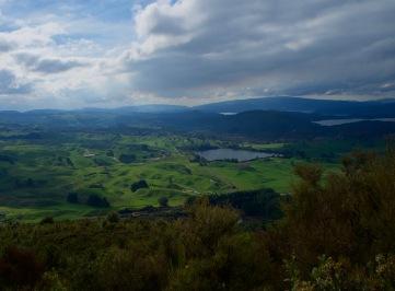 Rotorua from the top of Rainbow Mountain